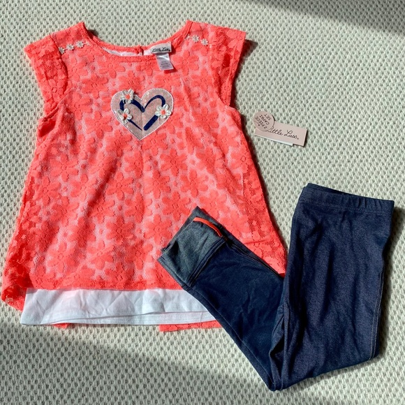 Little Lass Other - NWT Little Lass 2 piece capri set girls sz 10/12